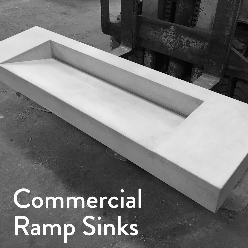 Concrete Studio Concrete Ramp Sink Water Plane