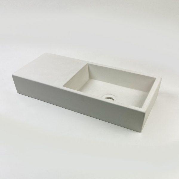 White Weerlo Concrete Cloakroom Basin