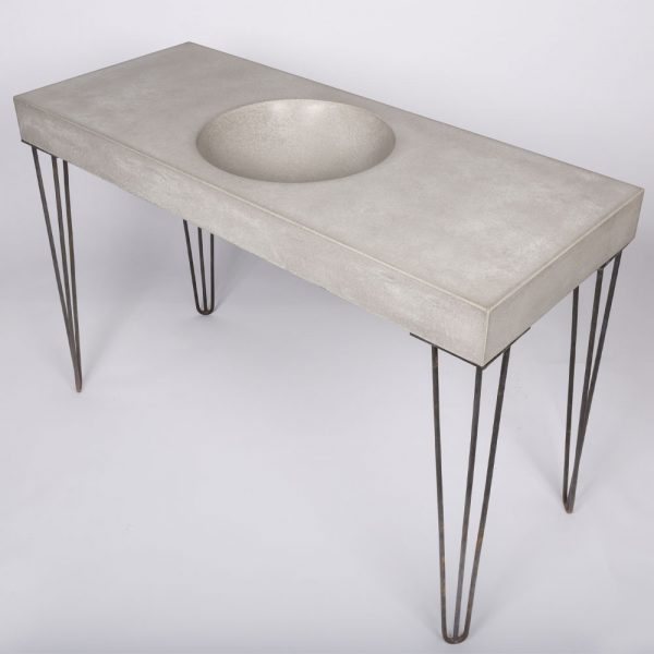 Bowl concrete sink on hairpin legs - Bowl by Concrete Studio