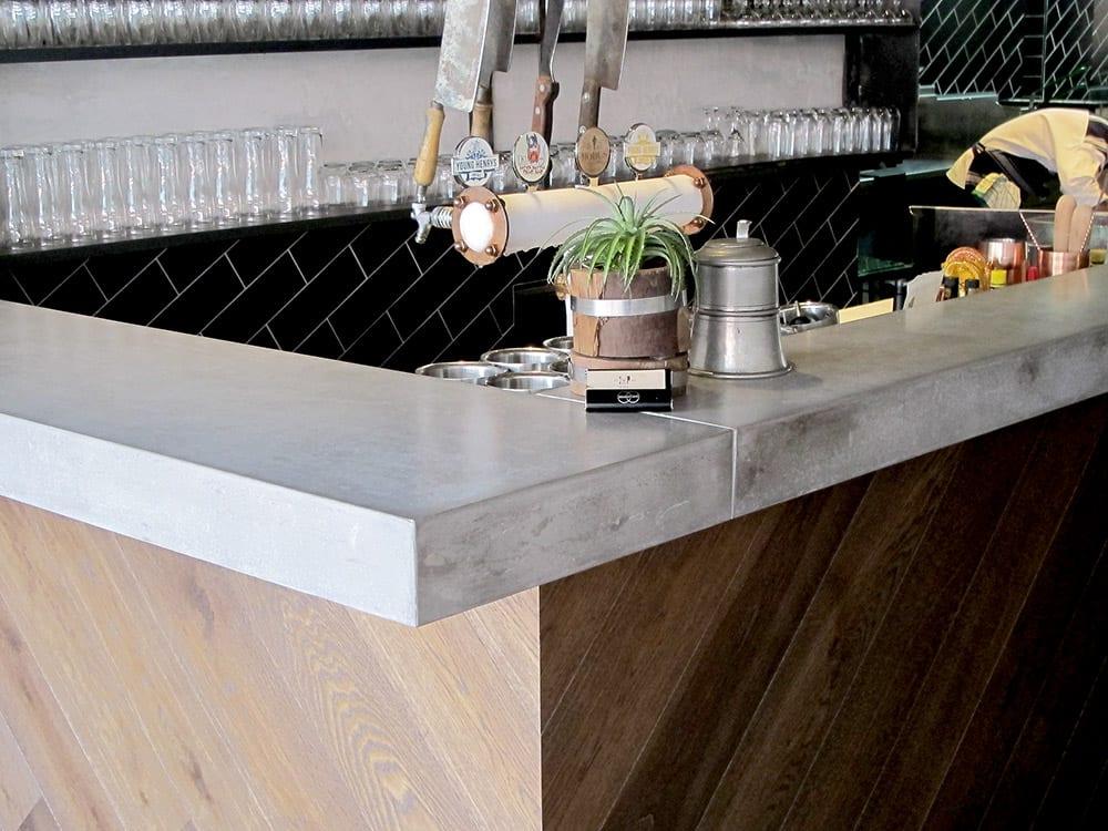 Concrete Bar - detail - at The Butchers Apprentice Sydney - by Concrete Studio
