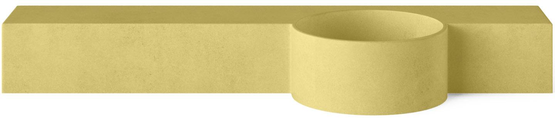 Concrete Cloakroom Basin - Mirro Circusin Lemon