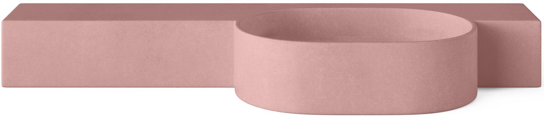 Concrete Cloakroom Basin - Mirro Oval in colour Rose
