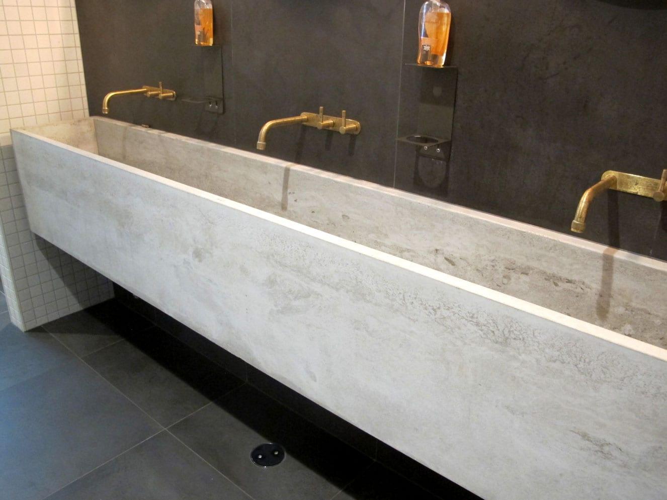 Concrete Trough Sink at Vasse Felix - by Concrete Studio