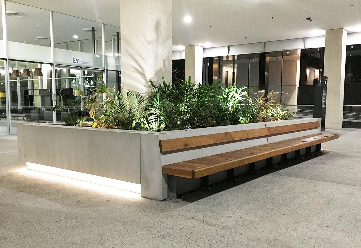 Feature Concrete Planter and Concrete Street Furniture at Ernst and Young - by Concrete Studio
