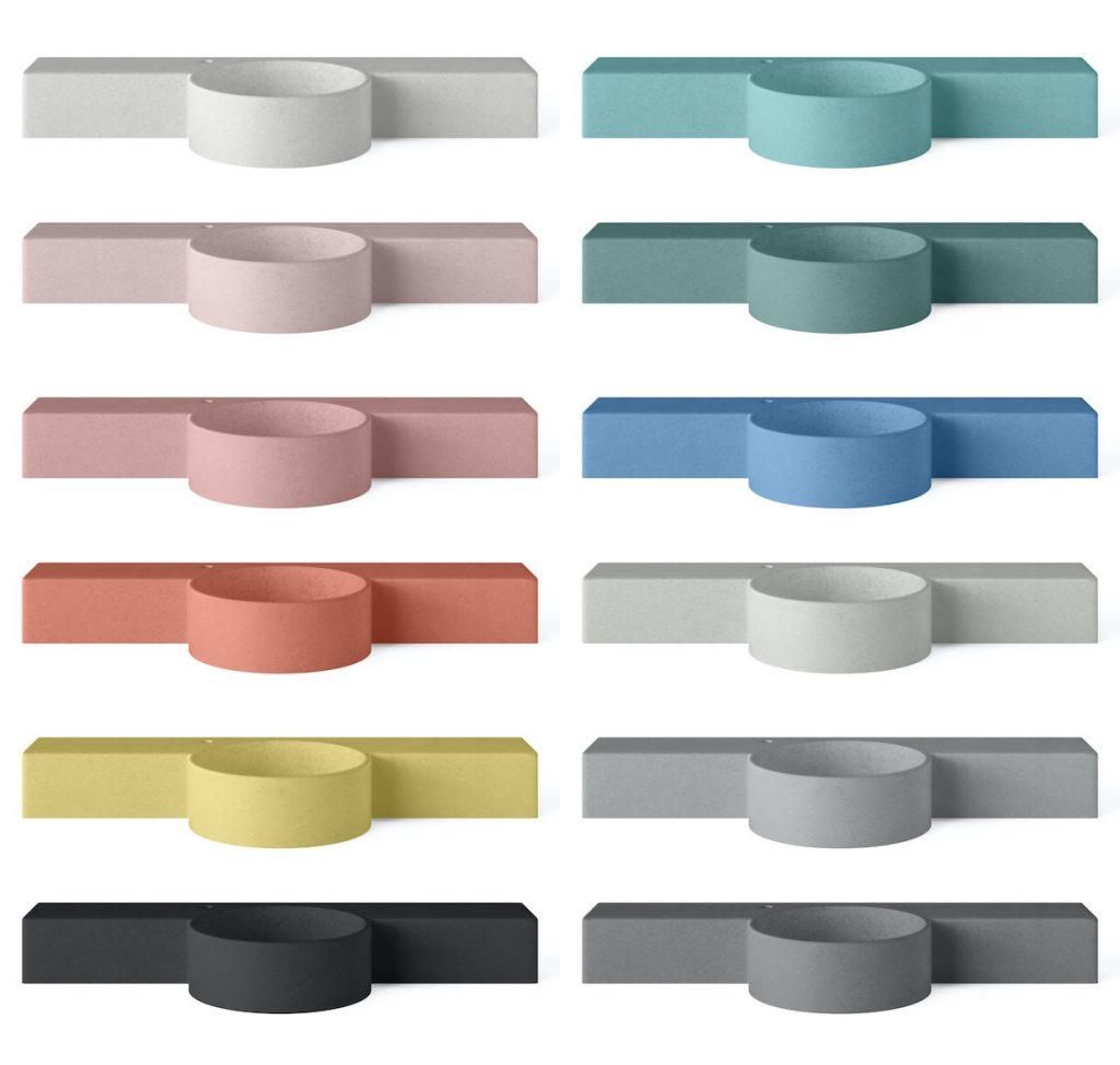 Concrete cloakroom basins in 12 different colours - Mirro Bowl by Concrete Studio